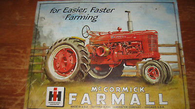 Farmall M Tractor Tin Sign - International Harvester - IH - McCormick-Deering