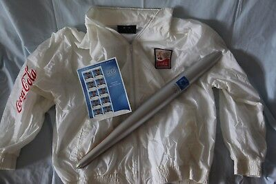 Athens Olympic Torch and Jacket