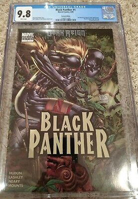 """Marvel Comics """"Black Panther"""" #1 VARIANT cover! Movie in theaters!  CGC 9.8"""