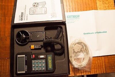 EXTECH Vane Thermo-Anemometer Datalogger M#451126 lightly used.