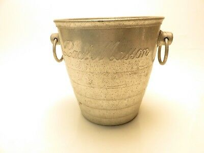 Vintage Champagne Ice Bucket Paul Masson Vineyards Saratoga California Aluminum