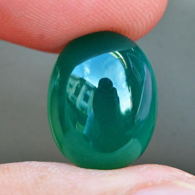 6.28ct Natural Cabochon Unheated Green Chalcedony Africa #R