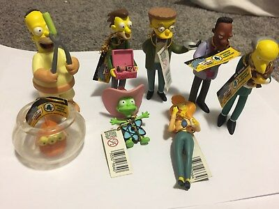 The Simpsons Series 4 Figurines- Springfiled Nuclear Power Plant x 8