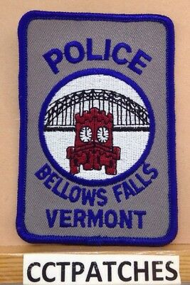 Bellows Falls, Vermont Police Shoulder Patch Vt