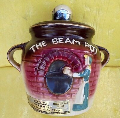 """Early Jim Beam Decanter  """"the Beam Pot"""" Made In Usa 1980"""