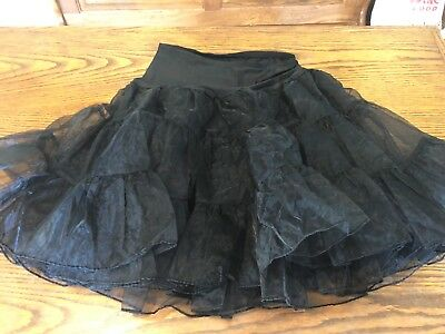 black GRACE KARIN petticoat tutu skirt size XL