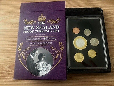 New Zealand  - 2016- Silver Proof Coin Set-  QEII 90th Birthday