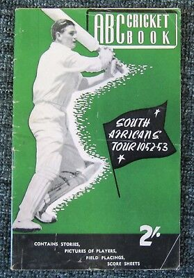 1952/53  ABC  Cricket  Book  (61 pages) ....  South Africa in Australia  V.G.
