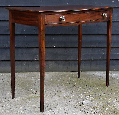 Fine Quality Georgian Mahogany Bowfronted Side Table, Circa 1790.