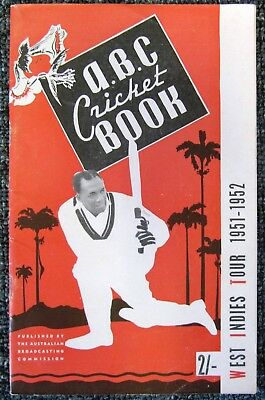 1951/52  ABC  Cricket  Book  (65 pages) ....  West Indies in Australia  V.G.