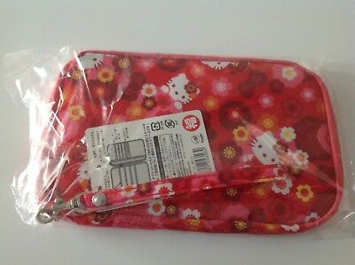Sanrio Hello Kitty Pocket Flat Pouch Travel Wallet Japan Japanese Red