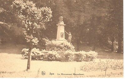 carte postale - Spa - CPA - Le monument Meyerbeer