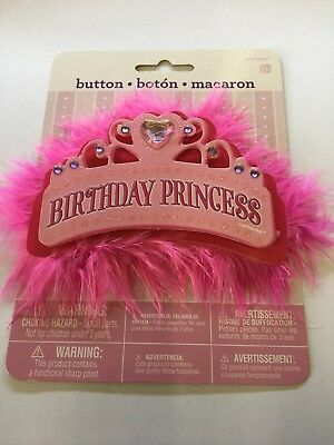 Amscan BIRTHDAY PRINCESS GIRL PINK Badge
