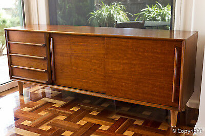 1950s Teak Buffet Sideboard Mid Century Solid Timber