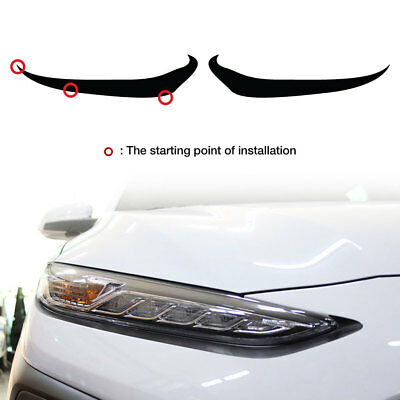 Front Head Light Lamp Eye Line Vinyl Decal Sticker 8 Color For HYUNDAI 2018 Kona