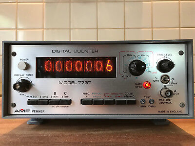 Amf Venner Digital Counter Model 7737 With Manuels