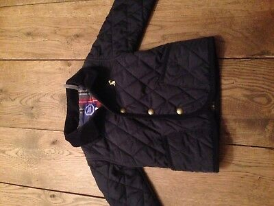 JOULES age 9-12 months navy baby quilted jacket coat