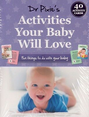 Activities Your Baby Will Love by Dr Pixie BRAND NEW (Card Activity Pack 2017)