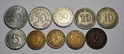10 Germany Coins, See Ad For Details.......................................G6163
