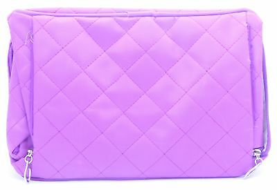 Red Spot Vanity Case Purple