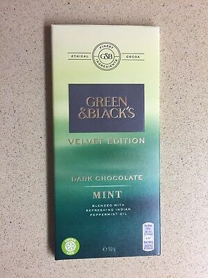 GREEN & BLACK'S UK, Dark Chocolate Mint, 90g