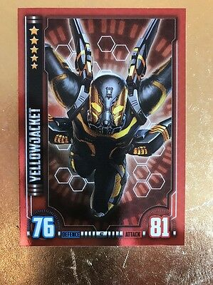 Hero Attax 2016-Marvel Cinematic Universe #47 YellowJacket Mirror Foil Card