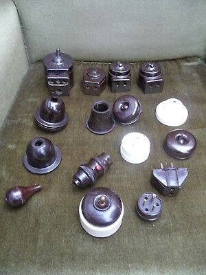 Collection of Bakelite Light Switches and Pulls