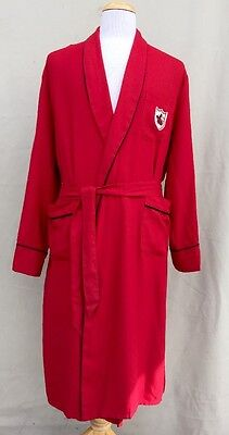 Men's DUNMAR Vintage Red Robe Size LARGE 50's 60's GORGEOUS!