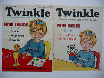 2 x Vintage Twinkle Comics Nos.30 (17 Aug '68) & 90 (11 Oct '69)  No Free Gifts