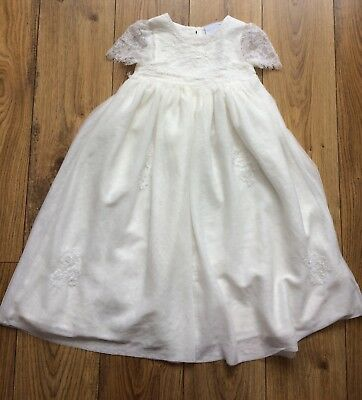 NEXT New Christening Baptism Naming Creamy White Gown Dress Baby Girl 6-9 months