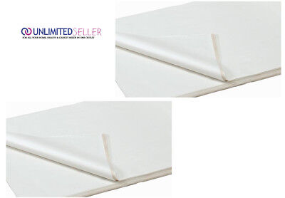500 SHEETS OF WHITE COLOURED ACID FREE WRAPPING TISSUE PAPER 450x700mm 16GSM