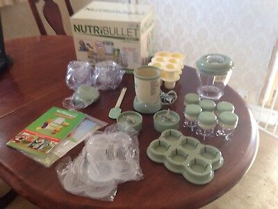 NUTRIBULLET BABY food blender processor with accessories. Baby weaning!