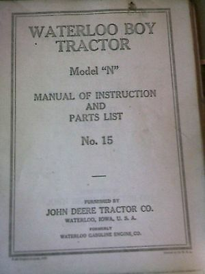 John Deere Waterloo Boy Model N Instruction Book.