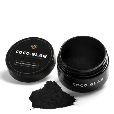 Coco Glam 100% Natural Teeth Whitener Activated Organic Charcoal 30g