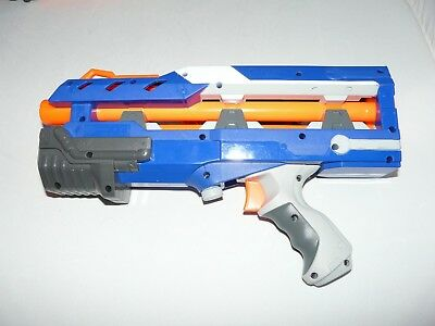 NERF BLUE LONG SHOT Cs-6 ELITE FRONT EXTENDER BLASTER IN GOOD CONDITION