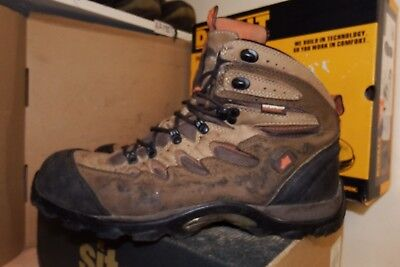 d3d14a3066c HYENA EIGER BROWN Leather Hiker Breathable Steel Toe Safety Boots UK 11 -  AA716