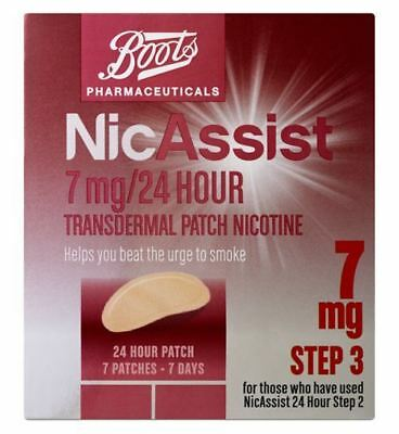 Boots NicAssist 7mg/24 Hour Transdermal Patch Nicotine Step 3 (7 Patches)