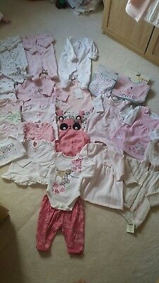 Bundle of baby girl clothes age 0-3 months. BNWT