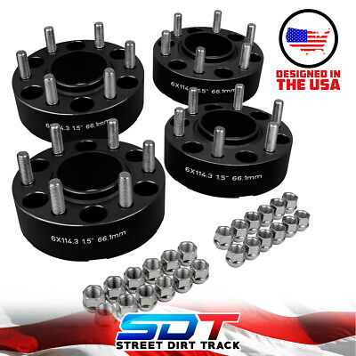 """Fits 05-17 Nissan Full Hubcentric 1.5"""" Wheel Spacers Frontier Pathfinder Xterra"""