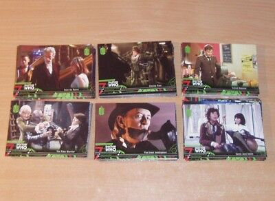 Doctor Who Extraterrestrial encounters job lot of 119 green series cards