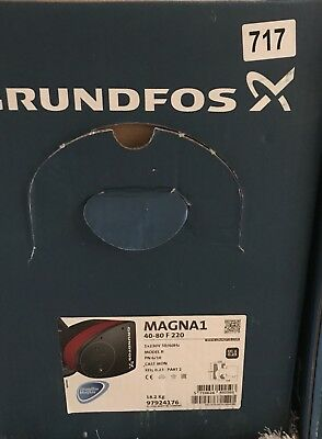 Grundfos Magna1 40-80F 1PH Flanged Pump Heating Circulator 240v #761 Vat