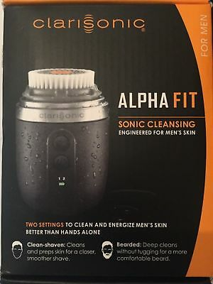 Clarisonic Mens Alpha Fit Cleansing Facial Device Engineered 4 Mens Tougher SKin