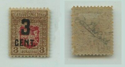 Lithuania 1922 SC 121 mint signed . f2566