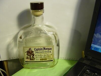 1 Empty Captain Morgan Private Stock Bottle W/cap