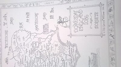old map domesday print