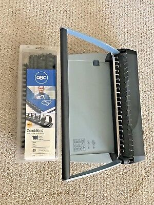 GBC CombBind C75 Binding System Spiral Binder + Extra Spines and Manual