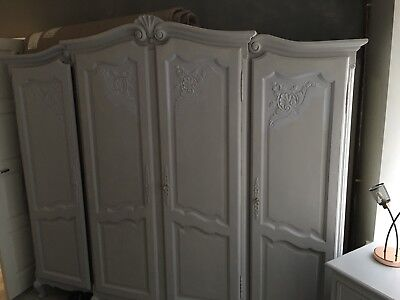 Solid Oak French Armoire