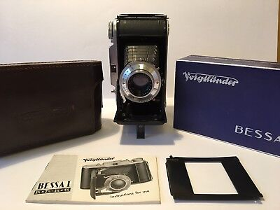 Voigtlander Bessa 1 6x9 Camera Boxed With Instructions Case & 645 Mask Exe+++