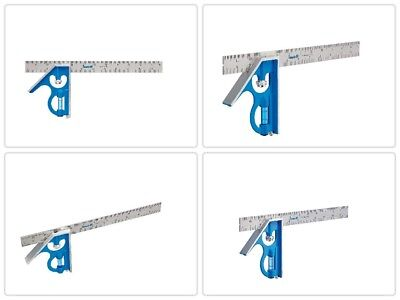 12 in. Combination Square True Blue leveling Vial Measuring Ruler By Empire E250
