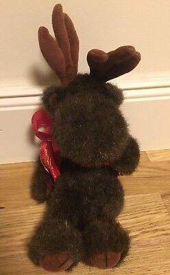 Boyds Collection Moose Plush Festus Jointed no Tags retired 34 cm x 10 cm